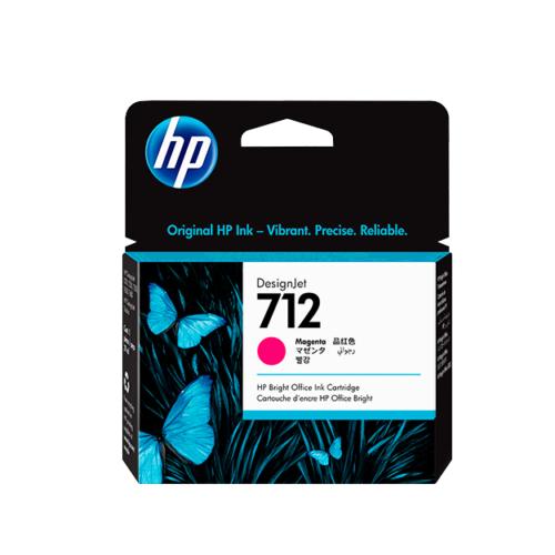 Cartucho de tinta HP 712 de 29 ml, magenta (T250)