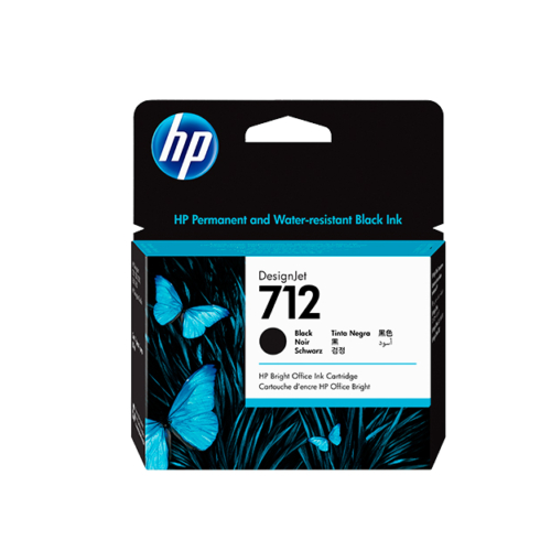 Cartucho HP 712 de 80 ml, negro (T250)