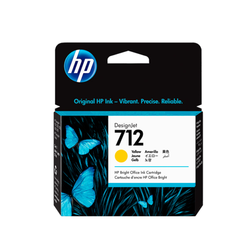 Cartucho de tinta HP 712 de 29 ml, amarillo (T250)