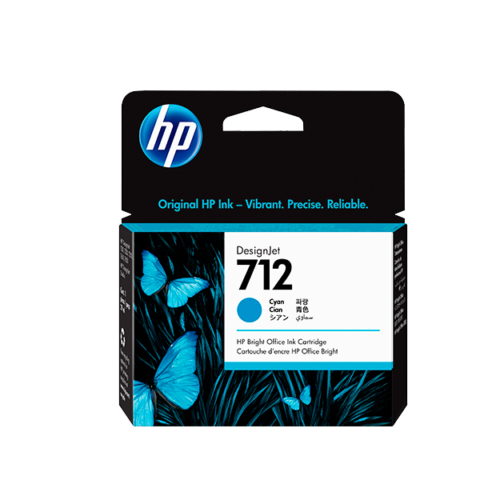 Cartucho de tinta HP 712 de 29 ml, cian  (T250)