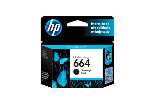 Cartucho HP 664 color Negro